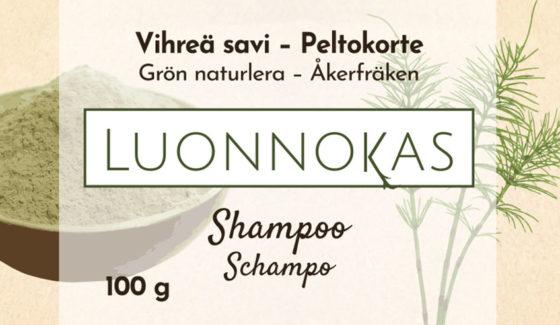 shampoopala vihrea savi peltokorte