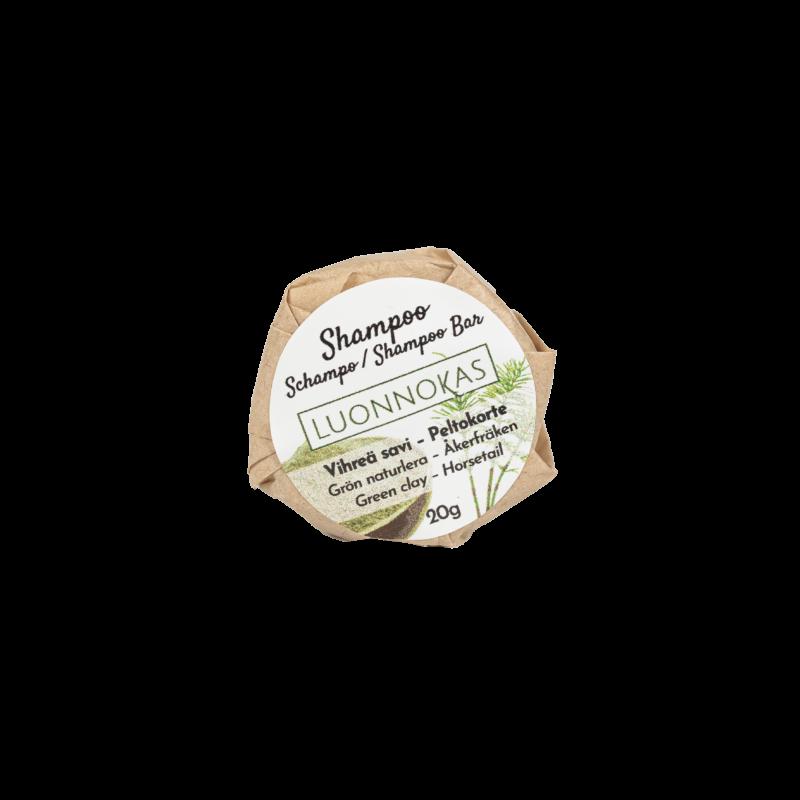 Vihreäsavi-peltokorte-shampoo 20 g.