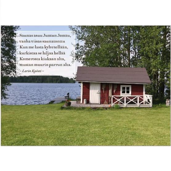 Rantasauna Kajaanin Nuasjärvellä.